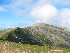 Carnedd Dafydd - Carnedd Dafydd from the ridge towards Pen yr Ole Wen