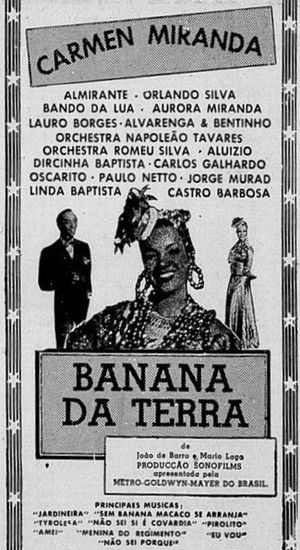 Banana da Terra - Theatrical release poster.