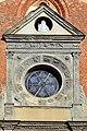 Casale monferrato, chiesa di san domenico, portale del 1510 ca. 02 eterno benedicente e rosone dello zodiaco.jpg