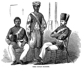 Jamaica Defence Force - West Indian soldiers, c. 1861