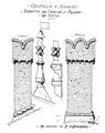 Castello d'Issogne, torrette da camino e pignoni da tetto, da schizzo d'andrade fig 102 disegno nigra.tiff