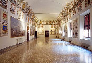 Este Castle of Ferrara, Hall of Coats of Arms