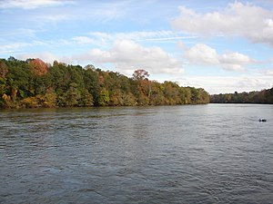 Catawba River - A view of the Catawba River in the fall at River Park in Rock Hill