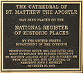 Cathedral of St. Matthew the Apostle plaque.jpg
