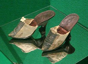 Mule (shoe) - 18th Century high heel mules