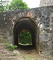 Catherineberg Sugar Mill Ruins, view of passageway; Saint John, United States Virgin Islands.jpg