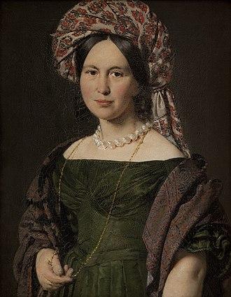 Alias Grace (miniseries) - Image: Cathrine Jensen, f. Lorenzen, kunstnerens hustru med turban