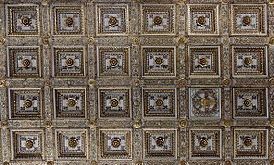 Coffer - Giuliano da Sangallo's flat caisson ceiling, Basilica di Santa Maria Maggiore, Rome.