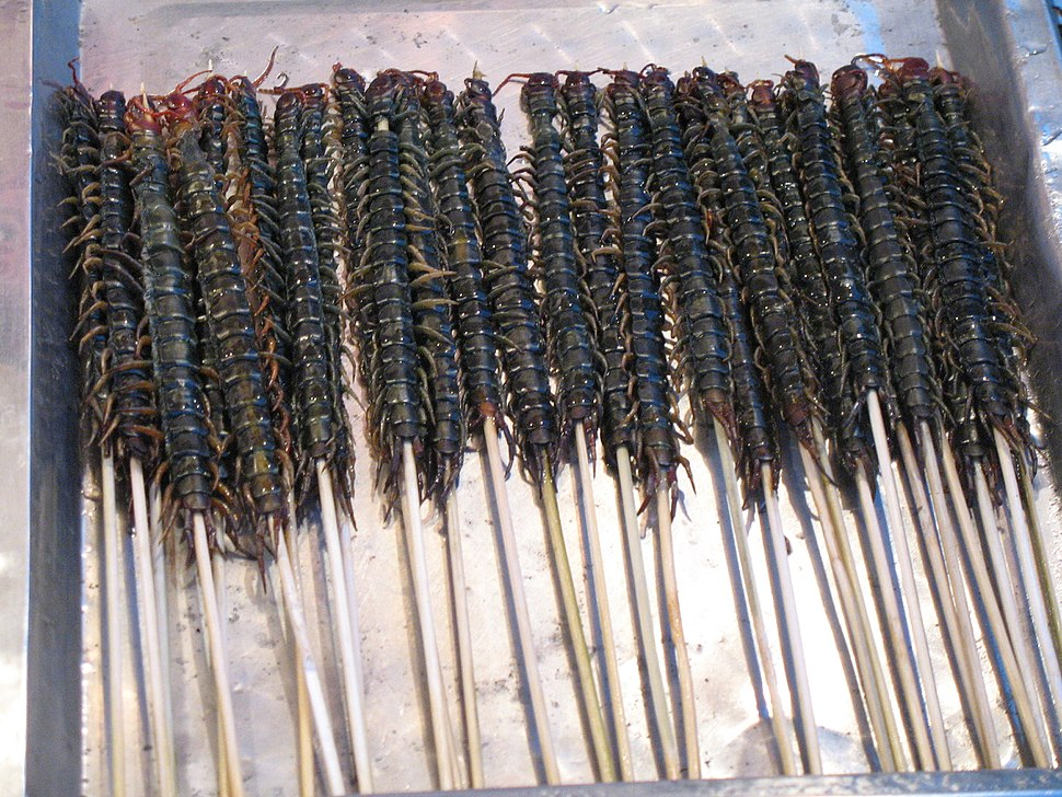 Centipedes as street food