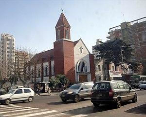 Lanús Partido - The main avenue, Hipólito Yrigoyen, in Lanús district.