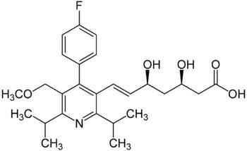 Struktur von Cerivastatin