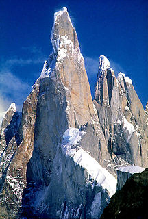 Cerro Torre mountain in Southern Patagonia in South America