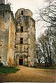 Château de l'Herm en 1985, tour de l'escalier en vis.jpg