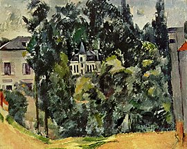 The château de Marines, by Paul Cézanne, 1888-90