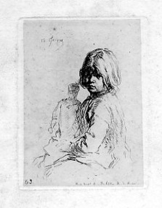 Charles Jacque - Etching on China, Marie