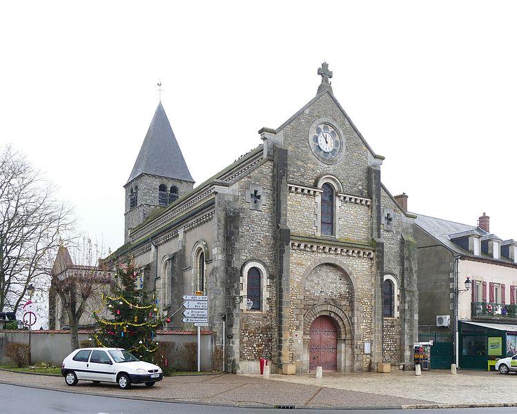 Saint-Martin's church in Chantenay-Saint-Imbert (Nièvre, Bourgogne, France).