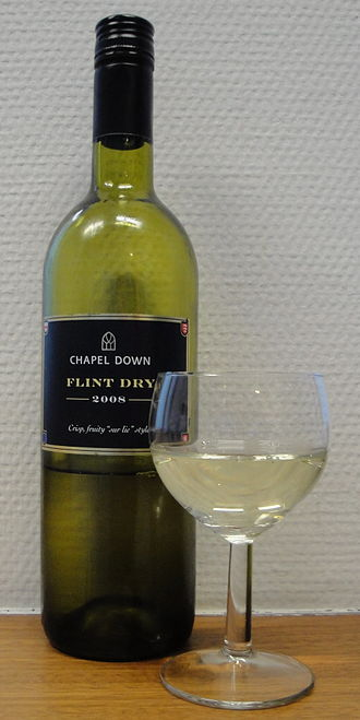Wine from the United Kingdom - An English wine, produced from vineyards in Kent