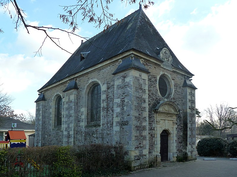 English:  Chapelle de la Barre, a 17th century chapel, 159 rue de la Barre in Angers, Maine-et-Loire, Pays de la Loire, France.