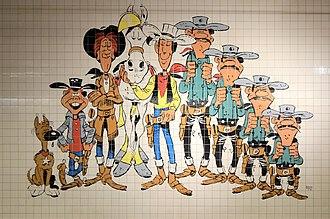 Parc (Charleroi Metro) - Image: Charleroi Parc (station de métro) Lucky Luke principaux personnages céramique 01