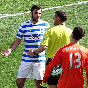 Charlie Austin - Austin (left) playing for Queens Park Rangers in 2015