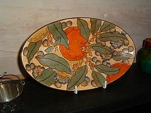 Charlotte Rhead - A plate by Charlotte Rhead.
