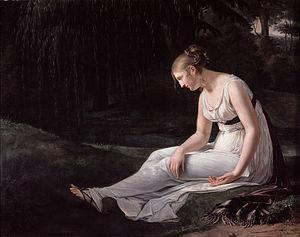 Constance Marie Charpentier - Constance Marie Charpentier, Melancholy, 1801, oil on canvas, 130 x 165 cm. Musée de Picardie, Amiens, France