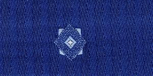 Charvet (fabric) - Charvet ground with supplementary weft pattern