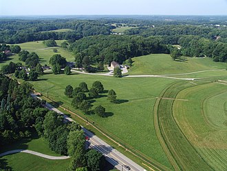 DuPont Historic Corridor - Delaware Route 52 near Winterthur showing Delaware's rolling Chateau Country