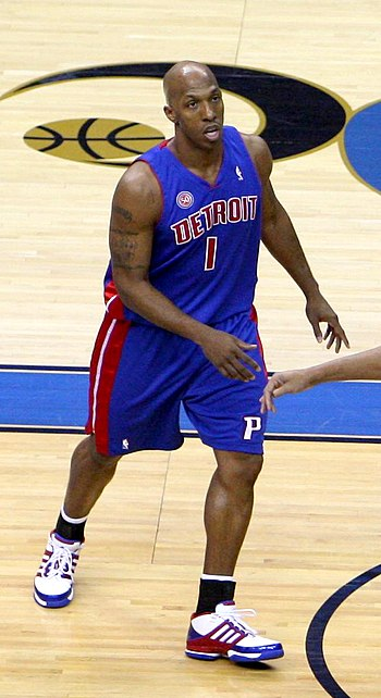 English: Chauncey Billups playing with the Det...