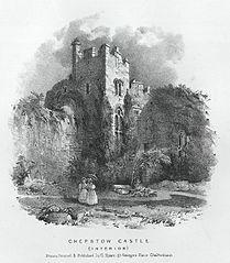 Chepstow Castle, interior