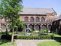 Chester Cathedral, Cloisters Garth.JPG