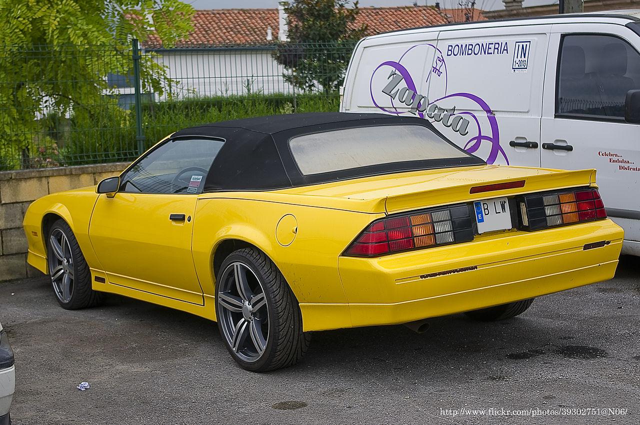 Iroc Z Wiki >> File:Chevrolet Camaro Iroc-z Convertible (6467611627).jpg - Wikimedia Commons