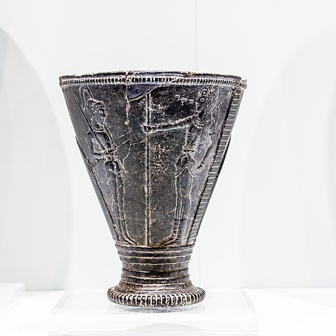 Carved stone Chieftain cup from Hagia Triada