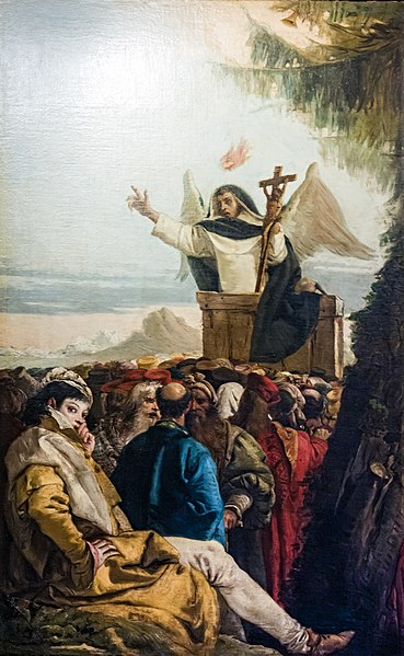File:Chiesa di San Polo (Venice) - Oratorio del Crocifisso - St Vincent Ferreri preaches to the crowd.jpg