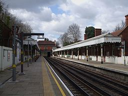 Chigwell station look west