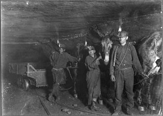 National Child Labor Committee - Photo of child coal miners in West Virginia by Lewis Hine (1908)