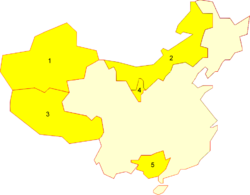 China autonomous regions numbered.png