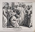 Christ raises the widow's son from the dead. Wood engraving Wellcome V0034858.jpg