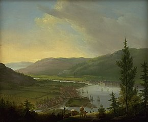 View towards Drammen, Norway