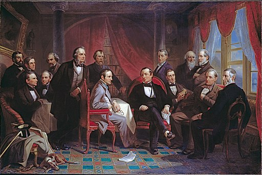 Christian Schussele - Washington Irving and his Literary Friends at Sunnyside - Google Art ProjectFXD