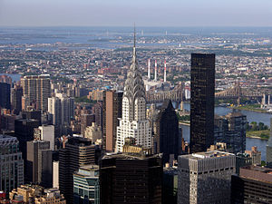 Chrysler Building - A view of the Chrysler Building from the Empire State Building. The Chrysler and Empire State Buildings were both built as part of the 1920s building boom in New York City.
