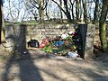 Chuchelský hřbitov, skládka hřbitovního odpadu.jpg