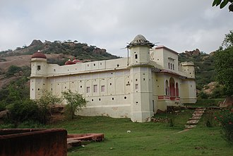 Bhargava - A view of ancient Dhosi Hill Temple of Chyvan Rishi, rebuilt by Bhargava Community in 1890s