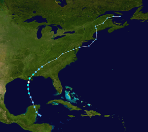Hurricane Cindy (2005) - Image: Cindy 2005 track