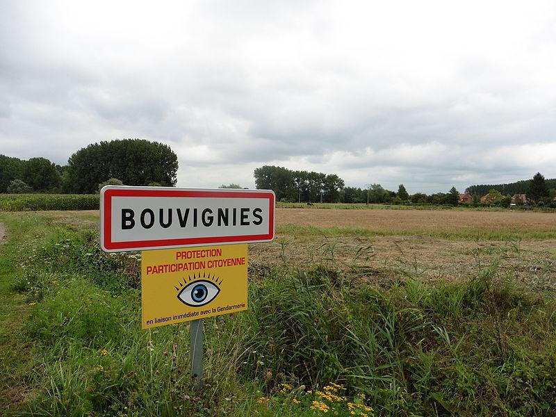 City limit de  Bouvignies (Nord) dans le Nord région   Nord-Pas-de-Calais France.