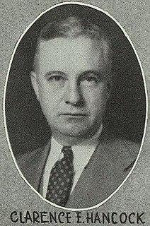 Clarence E. Hancock American politician