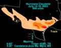 Claudette 2003 rainfall.png
