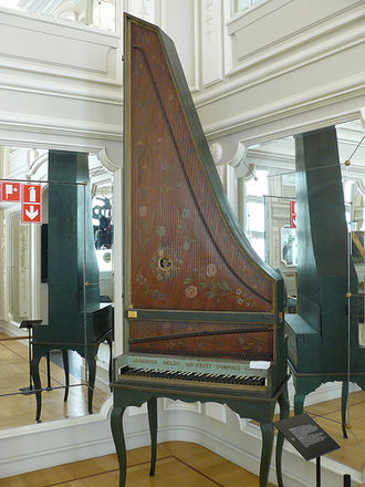 Clavicytherium - Clavicytherium by Albertus Delin. Now in the Musée des Instruments de Musique in Brussels