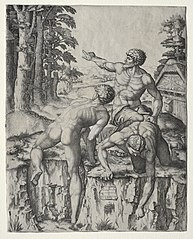 The Climbers (Three Figures from Michelangelo's Battle of Cascina)