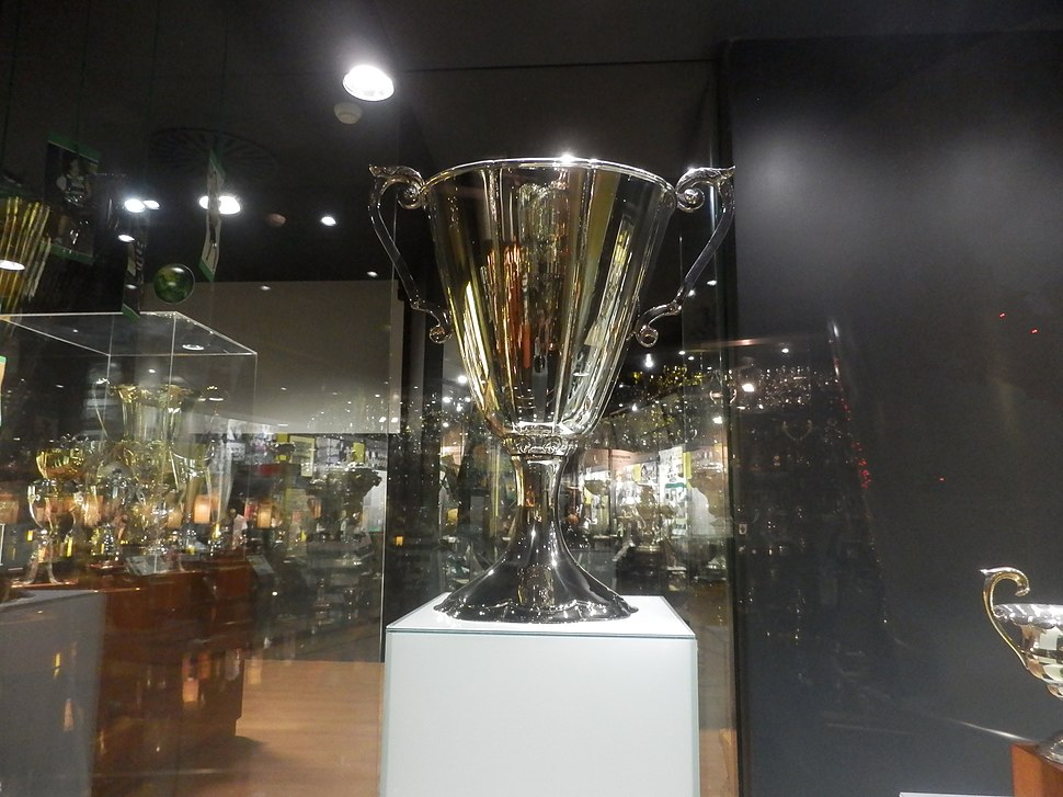 Close up of the European Cup Winners' Cup trophy